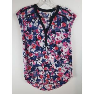 41 Hawthorn pink and blue floral tank top
